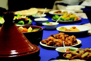Enjoying different food in a cross-cultural relationship